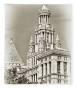 Timeless- New York City Hall Fleece Blanket