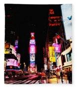 Times Square Fleece Blanket