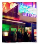 Times Square At Night - Le Funk Fleece Blanket