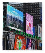 Times Square - Looking South Fleece Blanket