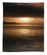 Timothy Lake Mysterious Sunrise 2 Fleece Blanket