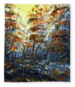 Tim's Autumn Trees Fleece Blanket