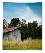 Tin Roof...ivy Covered Barn Fleece Blanket