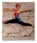 Shelly Ballet Jump Fleece Blanket