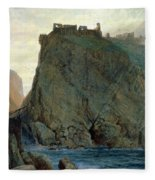 Tintagel On The Cornish Coast Fleece Blanket