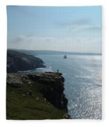 Man On The Edge Tintagel Fleece Blanket