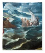 Tintoretto's Christ At The Sea Of Galilee Fleece Blanket