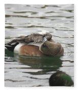 Tiny Duck Cleaning 1 Fleece Blanket