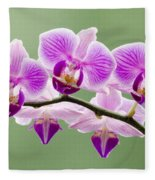 Tiny Orchid Faces Fleece Blanket