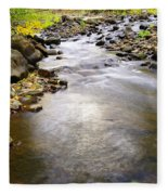 Tiny Rapids At The Bend  Fleece Blanket
