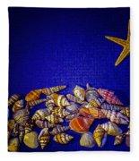Tiny Sea Shells Fleece Blanket