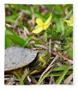 Tiny Turtle Close Up Fleece Blanket