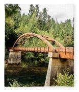 Tioga Bridge Over North Umpqua River Fleece Blanket