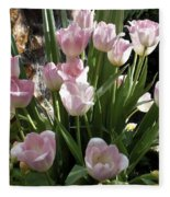 Tip Toe Through The Tulips Fleece Blanket