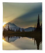 Tipsoo Rainier Sunstar Fleece Blanket