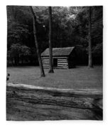 Tipton Place In Cades Cove Fleece Blanket