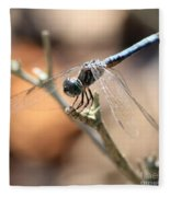 Tired Dragonfly Square Fleece Blanket