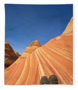 Tired Hiker Paria Wilderness Arizona Fleece Blanket
