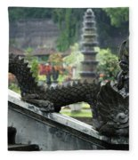 Tirta Gangga Bali Indonesia Fleece Blanket