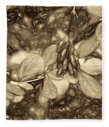 Tis The Season - Antique Sepia Fleece Blanket
