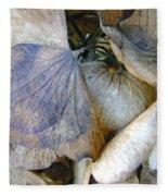 Tissue Paper Petals Fleece Blanket