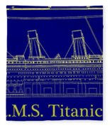 Titanic By Design Fleece Blanket