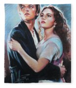 Titanic Jack And Rose Fleece Blanket