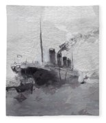Titanic Leaving Southhampton Fleece Blanket