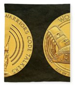 Tlingit Tribe Code Talkers Bronze Medal Art Fleece Blanket