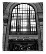 To All Trains Chicago Union Station Fleece Blanket