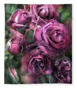 To Be Loved - Mauve Rose Fleece Blanket