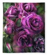 To Be Loved - Purple Rose Fleece Blanket
