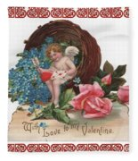 To My Valentine  Fleece Blanket