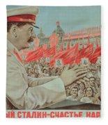 To Our Dear Stalin Fleece Blanket