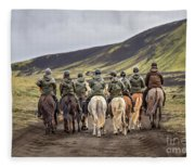 To Ride The Paths Of Legions Unknown Fleece Blanket