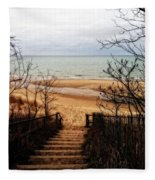 To The Beach Fleece Blanket