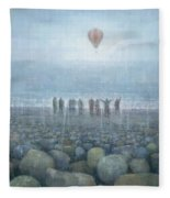 To The Mountains Of The Moon Fleece Blanket