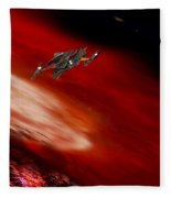 To The Planet's Surface Fleece Blanket