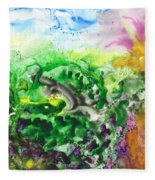 To The Unknown Abstract Path Number Six Fleece Blanket
