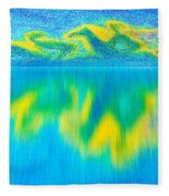 To West  Horses With Reflection Fleece Blanket