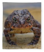 Toad With An Attitude Fleece Blanket