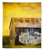 Tobacco Barn In Kentucky Fleece Blanket