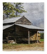 Tobacco Barn In North Carolina Fleece Blanket