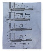 Tobacco Pipe Patent Fleece Blanket