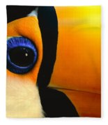 Toco Toucan Face Fleece Blanket