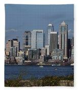 Today In Seattle Fleece Blanket