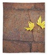 Together Yellow Maple Leaves Fleece Blanket