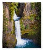 Toketee Falls Fleece Blanket