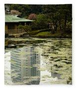 Tokyo Reflection Fleece Blanket