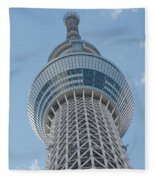 Tokyo Skytree Fleece Blanket